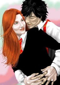 Lily Evans and James Potter by JamesGabriel