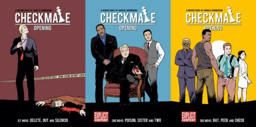 Paperback Covers Checkmate Opening by Andy Grail by abonny