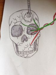 Wired Cranium by TTheFaceless