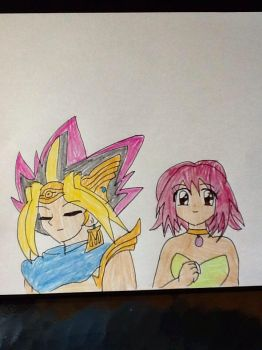 Atem and Daisy by MIRACLESVEEMON