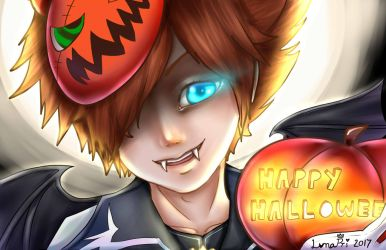 Halloween Town Sora by fullmoonnightonigiri