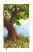 Peacock tree by bofink