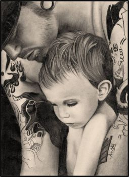 Dad and son by Henyelk