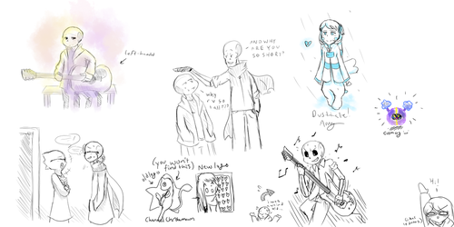 Sketch Dump! [Spoilers maybe?] by Christarmewn