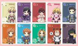 Ouran Host Club Postcards by kuridoki