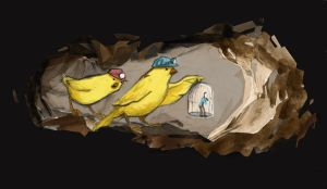 Canary caving by whiteflyinglizard