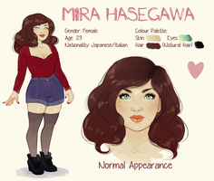 OC ref sheet - Mira by TwinklePowderySnow