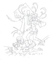 Slenderman, velma, and daphne drawing (150dpi) by electronicdave