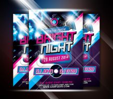 Bright Night Party Flyer by afizs