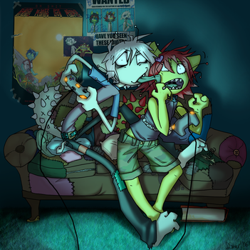 Patches is a gross nerd by evil-goma