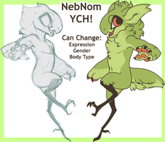[OPEN 6/10]://NebNom YCH by Juvialle