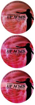 UP AChES button-pin design by melodia04
