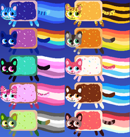 Nyan cat adoptables 7 LEFT by ColossalStinker