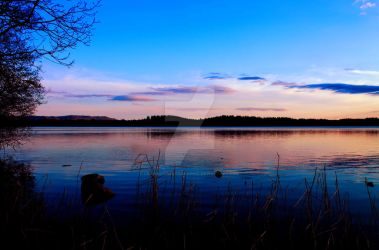 Dusk on the Lake of Menteith by Crannogphotographic