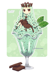 Mint Chocolate Chip Ice Cream by DAV-19