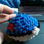 3D pokeball greatball pokemon perler  by Nastiwolf
