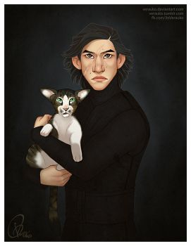 Kylo with the Shelter Cat by verauko