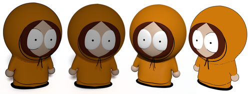 Different renderings of Kenny by dvda92
