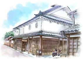 Old house it is the history of Japan by anzaisachie