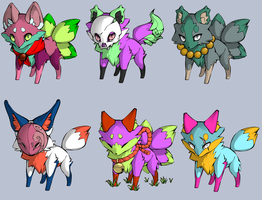 Fox Point Adopts (6/6 open) by skeletonpicnic