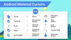 Android Material Cursors (Blue) by MJ-lim