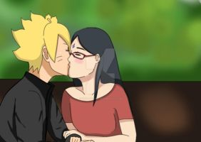 Boruto and Sarada on a date by shinauchiha