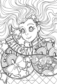 Imagination Colouring Page | Download by keh-arts