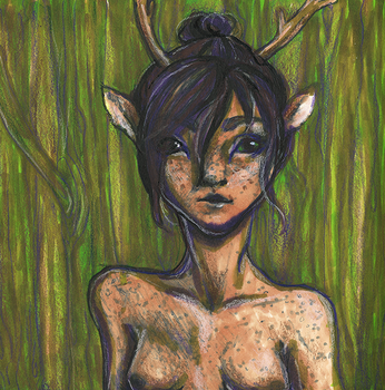 Faun sketch by GalacticGraceArtwork