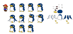 Penguins (Paper Mario) by DerekminyA