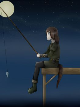 Just some night fishing - Isaac Oakland by RosaPeach