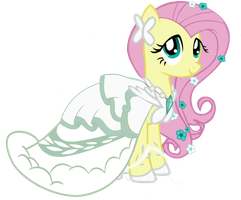 Wedding dress Fluttershy for CaptainBoosers by Rarity6195