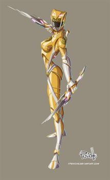 yellow ranger by Fpeniche