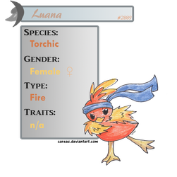 Luana the Torchic by careas