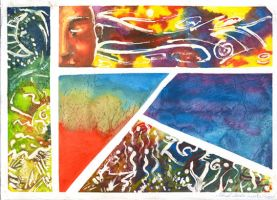 Watercolor panels by Rallase