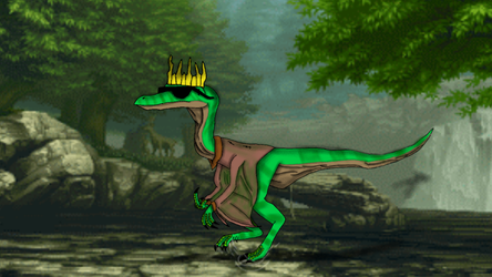 The Crowned Compsognathus by JurassicJuan