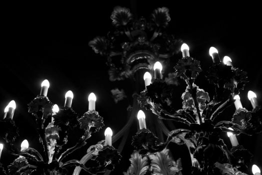Silver Candles by RoxxDecker