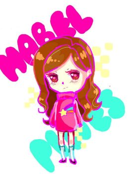 Mabel Pines Chibi by Sophieartpl