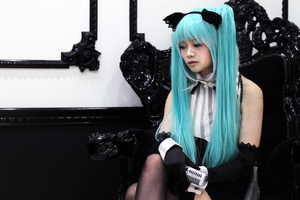 Hatsune Miku Cosplay- Risky Game: Melancholy by SpicaRy