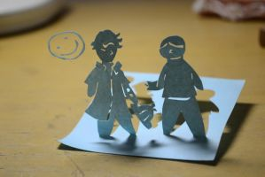 Sherlock Papercutting by Exoen144