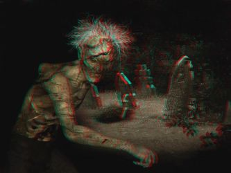 Zombie 3-D conversion by MVRamsey