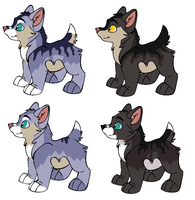 Koda and Spades Pups :CLOSED: by Dandilion-Kennels