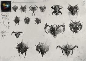 Dragon Heads: Rough Concepts by CityState