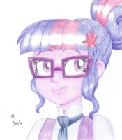 Sci Twi colored pencil portrait by mayorlight