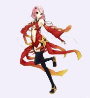 Guilty Crown- Inori by scwibbles