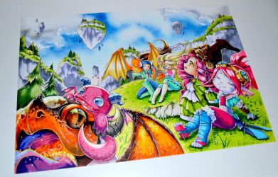 Dragon Trainer Poster by Lighane
