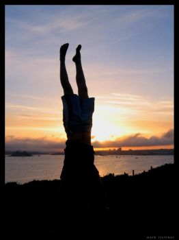 Sunset Handstands by PCGF-Smi