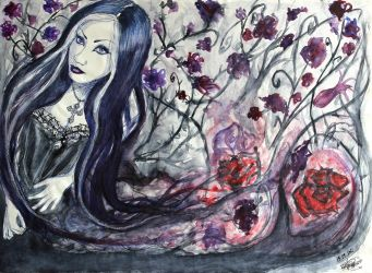 Lady of the Flowers by FrauleinVampyria