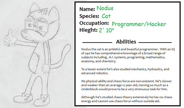 Nodus the Cat Basic info by PonyCharade