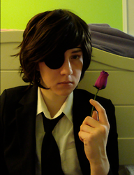 A rose for who? : Raven Cosplay 2 by ChibiErwin
