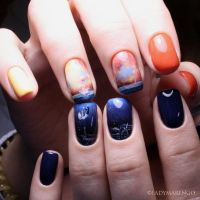 Falling to the depths Nails by ladymarengo